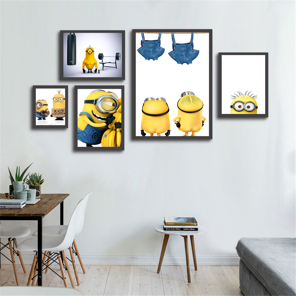 Us 2 63 12 Off Canvas Painting Cartoon Minions Hero Home Decoration Wall Pictures For Living Room Kids Room Decor Movie Posters And Prints In