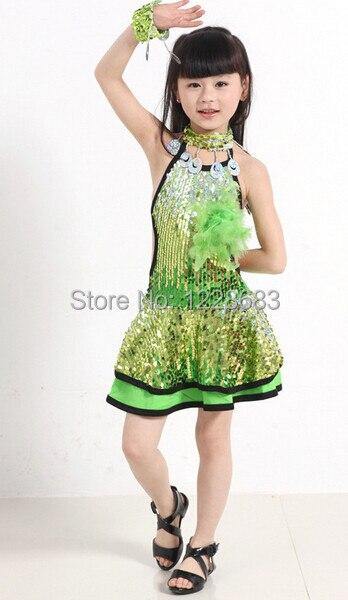 Girls Latin Dance Dresses For Sale Discount Kids Fashion Show