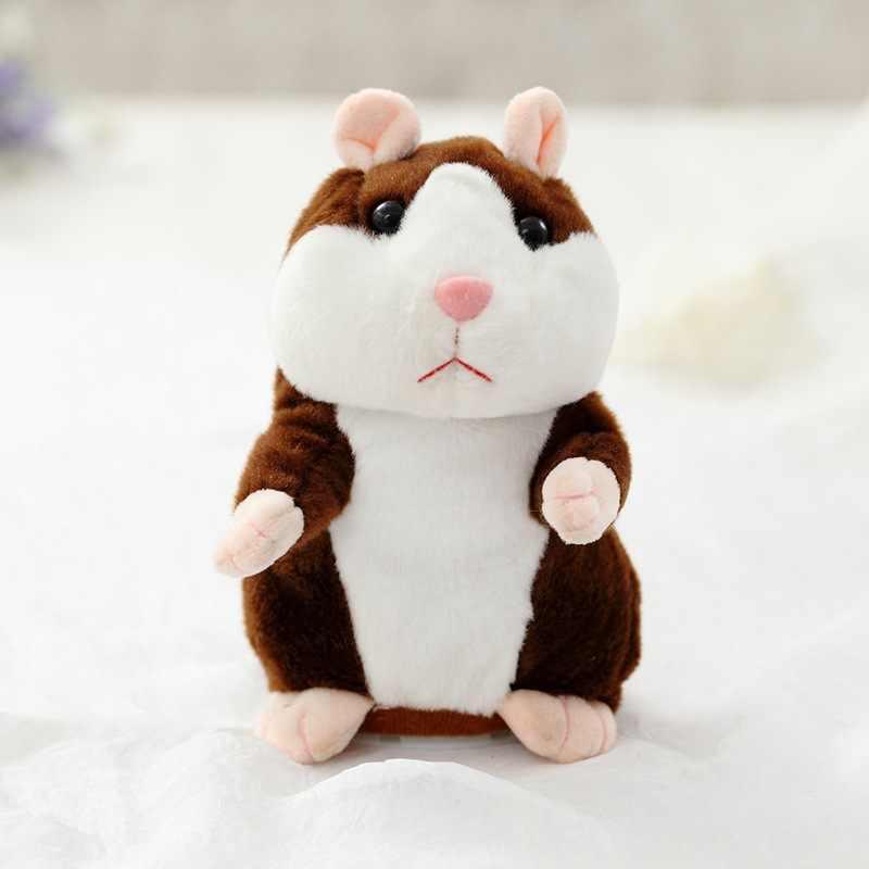 Cozfay Gratis Dropshipping 15 cm Drie Kleuren Talking Hamster Muis Leuke Speak Talking Sound Record Hamster Educatief Speelgoed