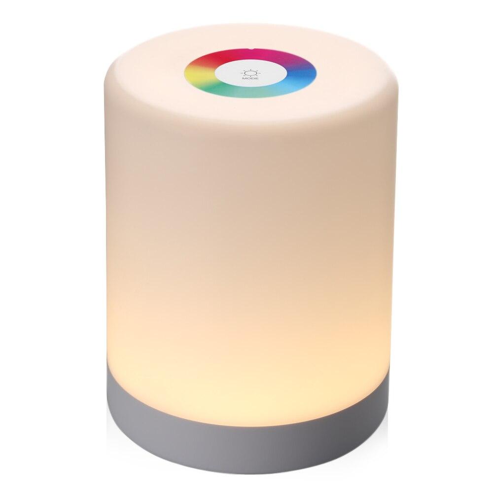 Recargable inteligente táctil LED de Control de luz de la noche de Dimmer inteligente lámpara Dimmable RGB cambio de Color con gancho