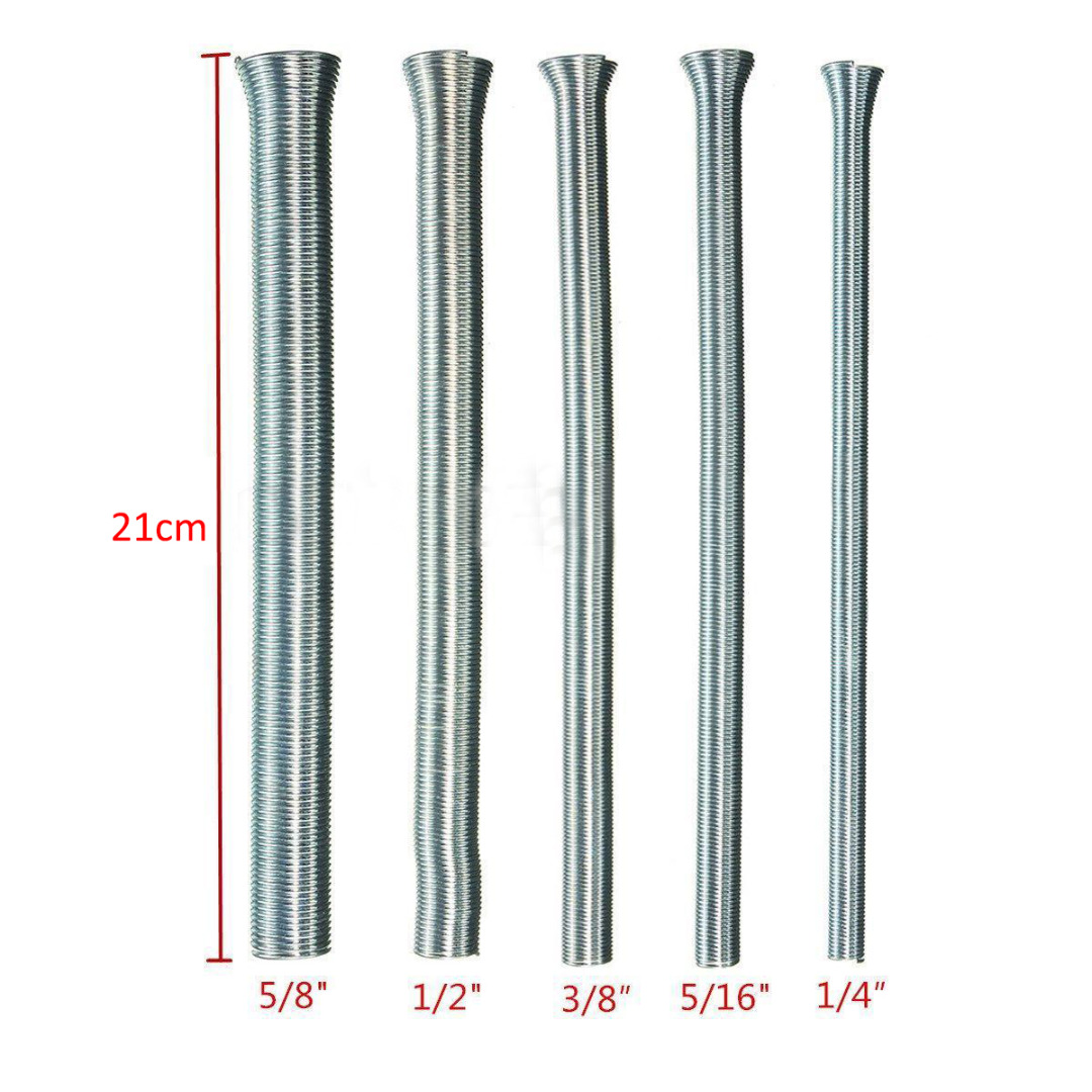 5pcs 21cm Length CT-102-L Spring Tube Pipe Bender 1/4 5/16 3/8 1/2 5/8 Diameter For Aluminum Tubes запчасть xlc bicycle tubes 20 1 5 2 5 av 35 мм