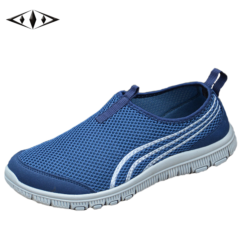 2016 LEMAI Cool Simple Style Striped Men Sneakers Summer Breathable Mesh Outdoor Running Shoes Low Upper High Hot Sale 002-4