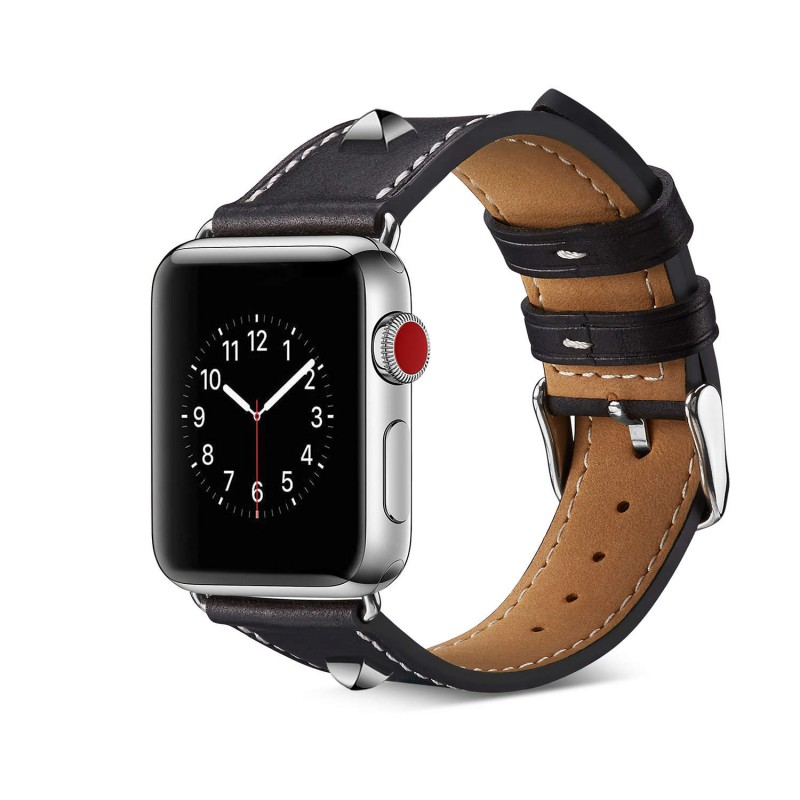 Bracelet Apple Watch Cuir avec rivets