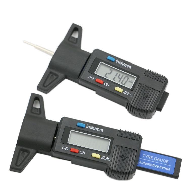 Digital depth gauge caliper tread depth gauge LCD Tyre tread gauge For Car Tire 0-25.4mm Measurer Tool Caliper