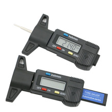 Digital depth gauge caliper tread depth gauge LCD Tyre tread gauge For Car Tire 0 25.4mm Measurer Tool Caliper