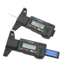 デジタル深さゲージキャリパートレッド深さゲージ LCD タイヤトレッドゲージ車のタイヤ 0 25.4 ミリメートル計測員ツールキャリパー