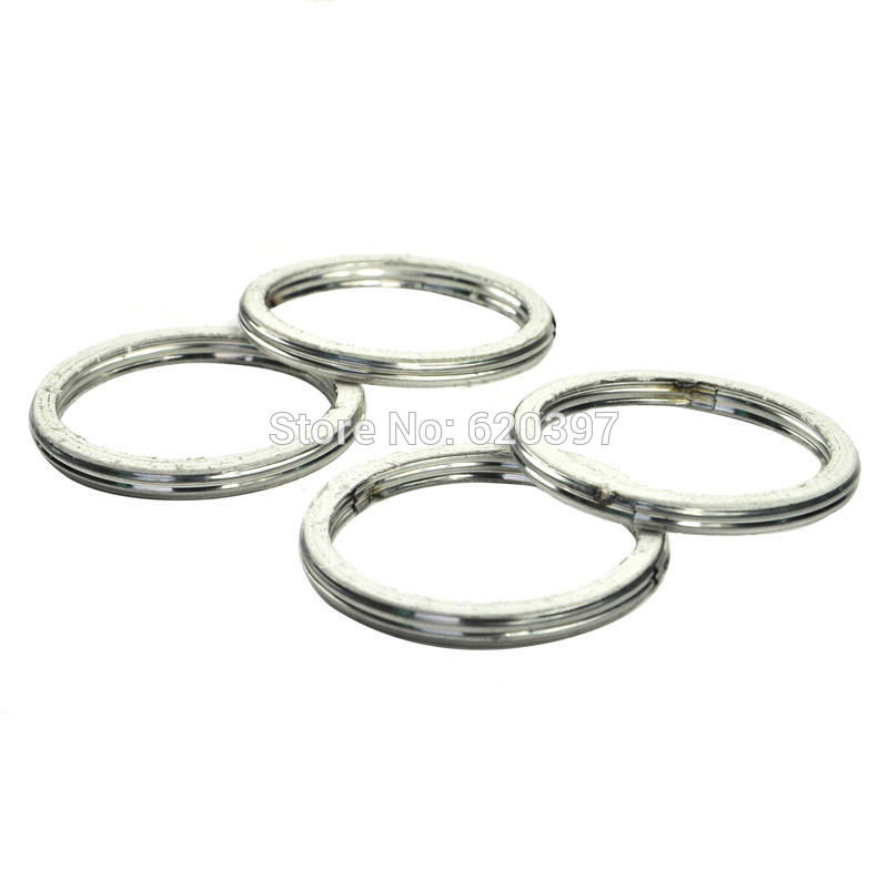 LOPOR 4 PCs Exhaust Pipe Header Gasket for YAMAHA ATV 1992-1998 TIMBERWOLF 2WD 1989 PRO- ...
