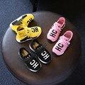 Nuevos niños del resorte carta HC zapatos del diseño de marca de moda niños niñas zapatos casuales niños zapatos deportivos 16J03