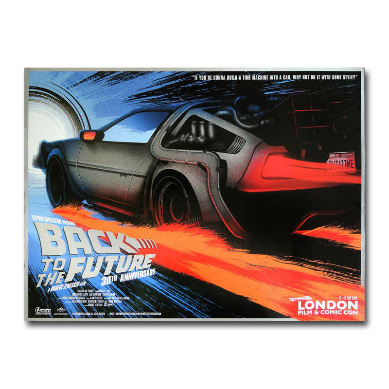 Back To The Future Movie Canvas Silk Poster 13x18 24x32 inch
