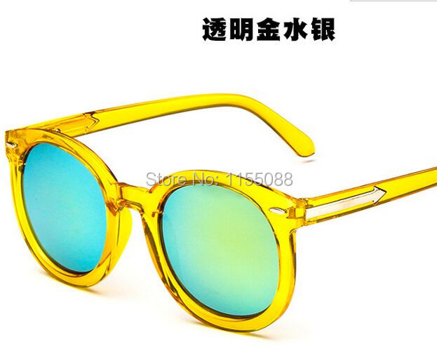100pcs/lot Fashion cool multicolour Mirror glasses sunglasses women Vintage sunglasses lady Designer sunglasses