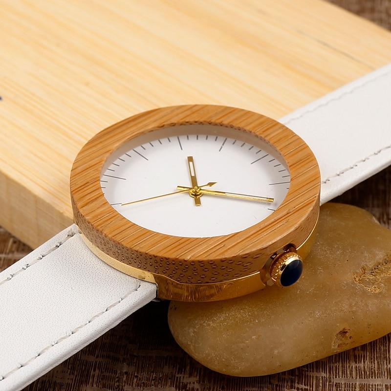 Brand 2017 BOBO BIRD Watch Women Bamboo Wood Watches Montre Femme Lady Quartz Wristwatch relogio feminino