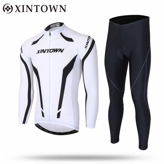 2017 Xintown Long Sleeve Bicycle Wear Cycling Jersey Sets Ropa Ciclismo Racing Wicking Sportswear Men Outdoor Pro Team Clothing