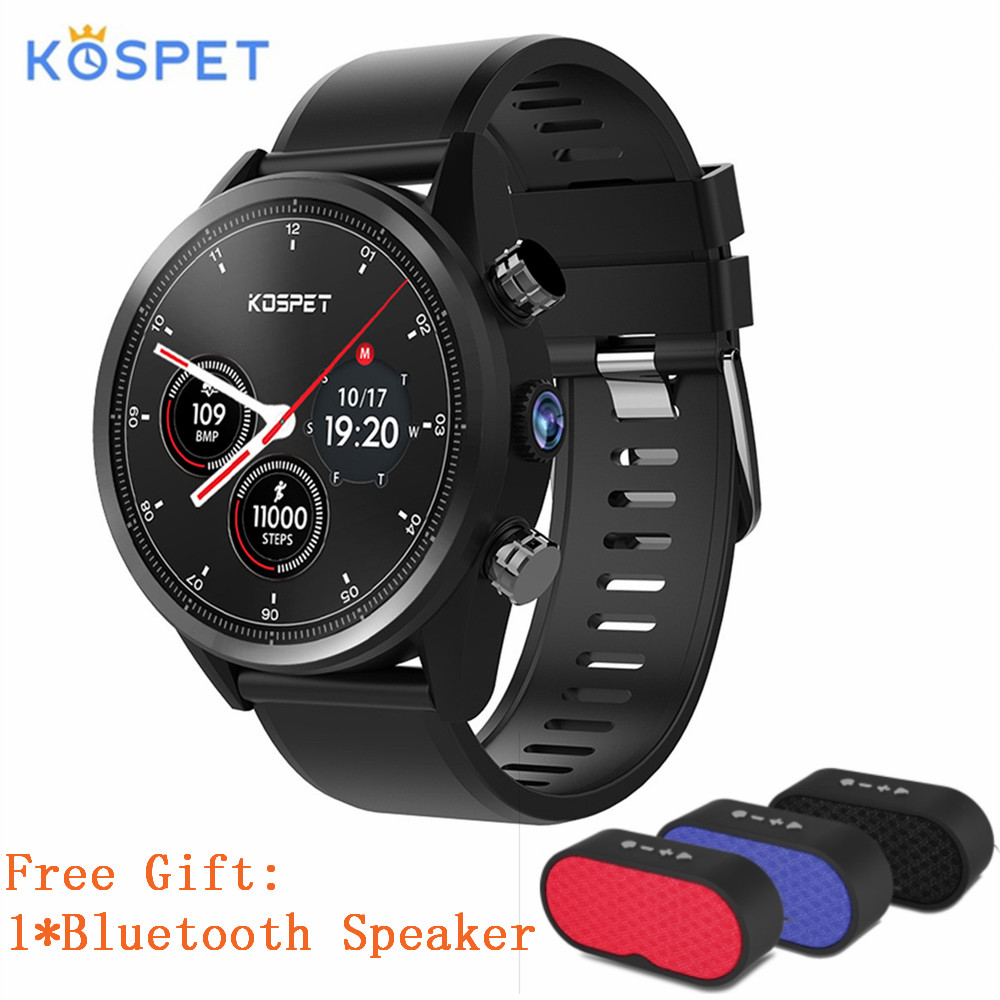 Kospet Hope 4G Android 7.1 Smartwatch Phone 1.39 inch 3GB+32GB MTK6739 Quad Core 8.0MP Camera Bluetooth GPS Sports Watch Phone
