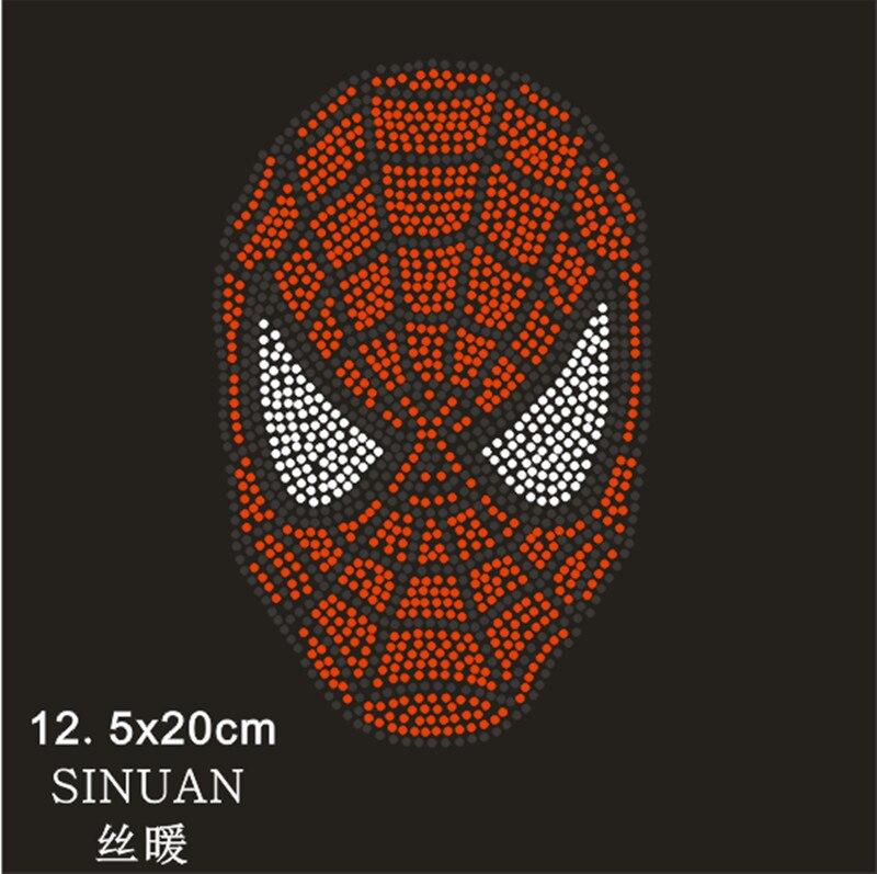 Оптовая 12.5x19.5 cm человек-паук дизайн исправление кристалл моделей 10 шт./лот diy горный хрусталь железа на патчи для майка