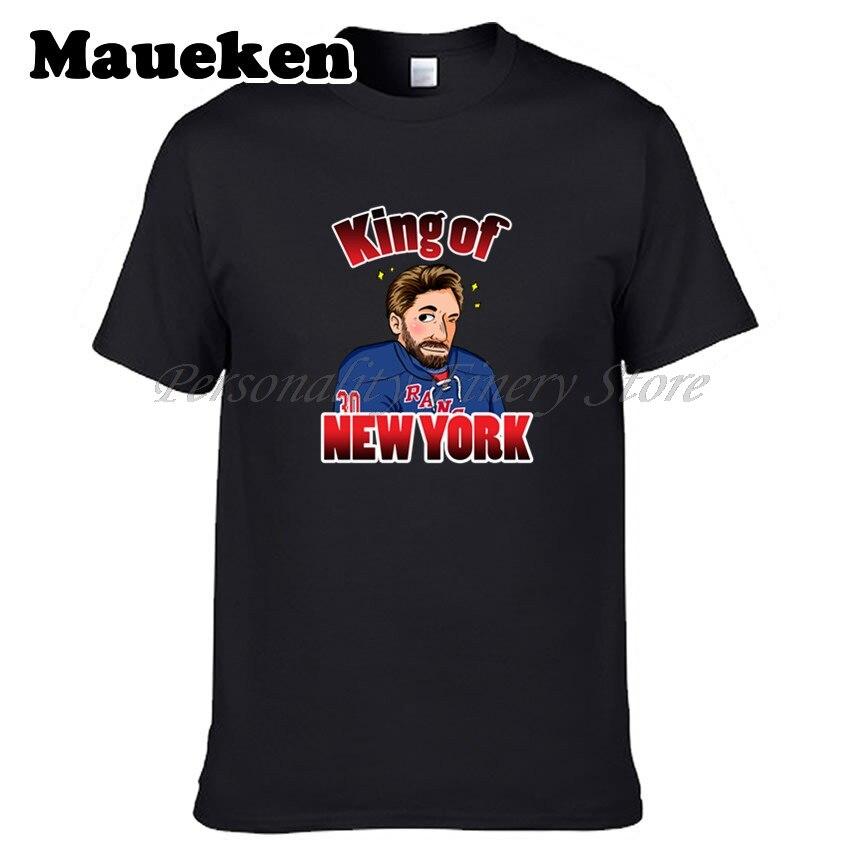 Men New York king of new york #30 Henrik Lundqvist T-shirt Clothes T Shirt Mens for Rangers fans gift o-neck tee W0526006