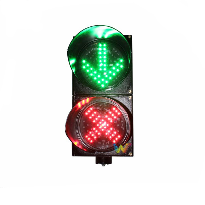 Vertically Installation AC85-265V  200mm Red Cross Green Arrow Traffic Signal Light For Sale