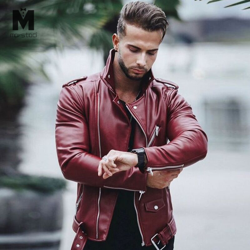 US $29.99 |Men's PU Jackets Autumn Faux Leather Coats Male Motorcycle Jacket Slim Fit Fashion Mens Brand Clothing|Jackets| |  - AliExpress