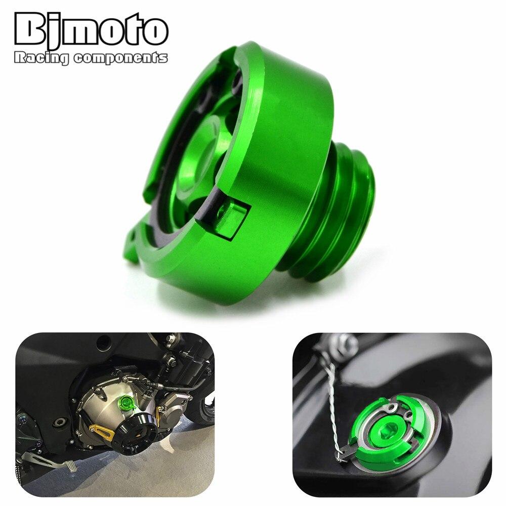 Bjmoto Motorcycle Accessories parts M20*2.5 Engine Oil Drain Plug Sump Nut Cup Plug Cover For Kawasaki Z900 2017 2018 motorbike magnetic oil drain sump plug m14 x 1 25 for suzuki gsxr 600 750 1000