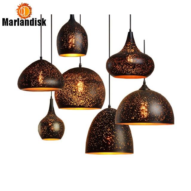 New Arrival Vintage Pendant Light E27 LED Iron Lampshade Bar Restaurant Pendant Lamp Countryside Style Rust Pendant Lamps(DQ-50)