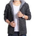 2016 Winter Blusas Masculinas Men's Thick Hooded Sweaters Cardigan ClothinMale thickening sweater men sweater thicken coat