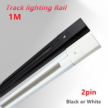 10pcs/lot 1m LED track light rail lighting fixture for Universal rails,track lamp rail,free shipping
