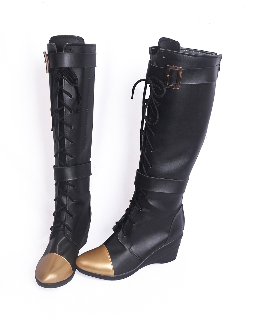 LOL Caitlyn the Sheriff of Piltover Cosplay Boots Shoes (4)