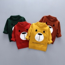 hot deal buy kids sweaters baby clothes for boys autumn baby cartoon animal print cotton sweater outerwear boy winter clothes