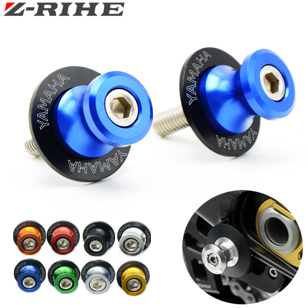 new Universa motorcycle parts Aluminum Swingarm Spools slider 6 colors For Yamaha YZF R1 R6 R6S MT09 MT-09 FZ6 FZ8 FZ1 XJR 1300 golden 6mm motorcycle carbon fiber swingarm spools slider fits for yamaha yzf r1 r6 r6s yzfr1 yzfr6 yzfr6s yzf r6s