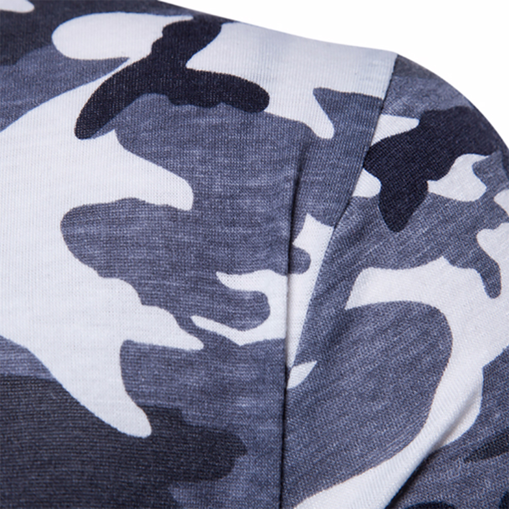 Men's Top Regular Gradient Print Breathable Cotton Short Sleeve 2018 Spring And Summer New Casual Camouflage Polo Shirt 34