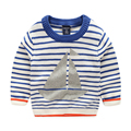 Striped Boy Sweater Sailing Pullover Top Knitted Cotton Coat Long Sleeve Outfit Kids Clothes Winter Boys Warm Children Clothing