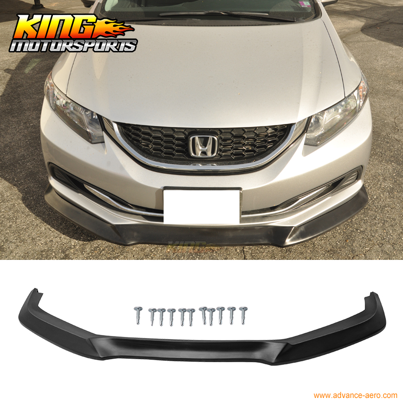 For 2013 2014 2015 Honda Civic USDM GT Style Front Bumper Lip Unpainted - PU (Poly Urethane) for 2012 2013 honda civic 9th gen 2dr door coupe h style front bumper lip pu