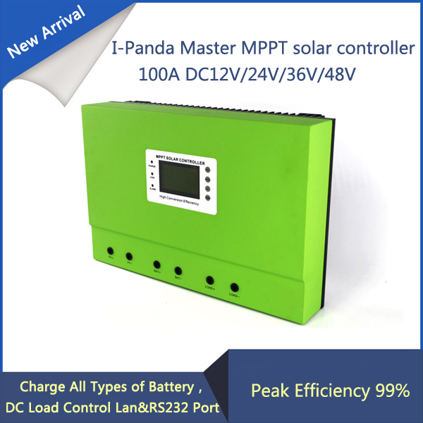 High efficiency 100A mppt solar charge controller 12V 24V 36V 48V Auto Work cheap saipwell high power solar charge controller 12v 50a smg50