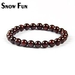 Schnee Spaß 6mm Granat Stein Runde Perlen Armband Glück für Frauen Mädchen Armband Schmuck