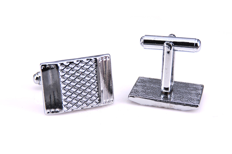 Delivered free silver cufflinks, cufflinks scales grid color square meter men cufflinks whoelsale&retail copper materials
