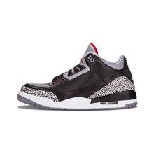 a70ede4fa26e Jordan retro 3 Man Basketball Shoes Katrina Charity Game Pure Black Cement  White Seoul Outdoor Sneakers