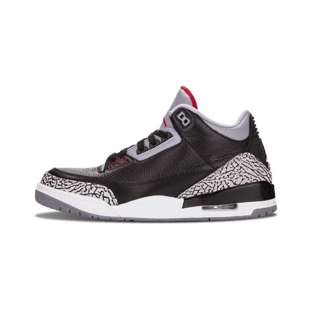 4dd7b7fe8cf6 Jordan retro 3 Man Basketball Shoes Katrina Charity Game Pure Black Cement  White Seoul Outdoor Sneakers Sport Sneaker 40-47