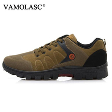 VAMOLASC New Men Outdoor Suede Leather Hiking Shoes Waterproof giant SIZE Mountain Walking Trekking Boots