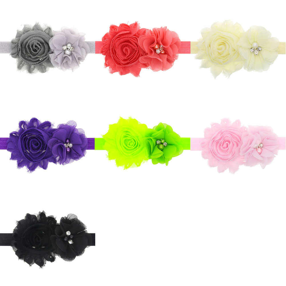 Diadema para bebé Niña Accesorios para el cabello infantil lazo de Flores Lazo floral sombrero recién nacido tiara diadema regalo niños venda cinta