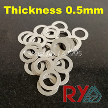 Thickness 0.5mm Stainless steel Flat Washer Ultrathin gasket M3-M60 Thin shim SUS304(China)