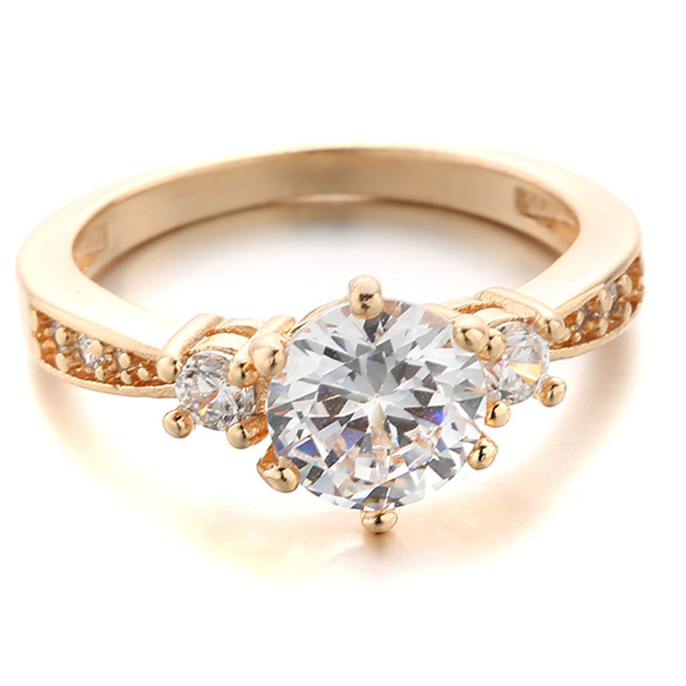 1pcs 2015 Trendy Simple Design Ring With Crystal Zircon Suit Fashion