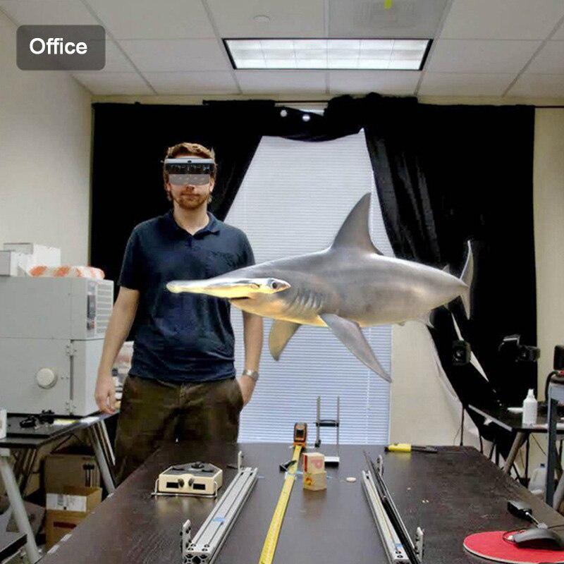 Holographique Effets Smart AR Boîte des Lunettes de Réalité Augmentée Casque 3D Virtuel Confortable @ JH