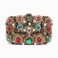 2019 Luxury Handbags Women Bags Italy Designer Baroque Diamond Clutch Wallet Wedding Party Banquet Ladies Evening Bags S107