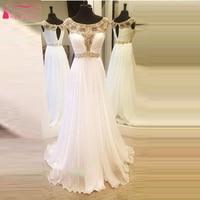 White Crystal Bling Bling A Line Evening Dress Elegant Charming Beach Wedding dress Prom Gowns Girls robe de soiree Long Z102