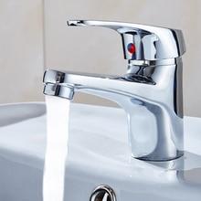 Waschbecken Wasserhahn Heißer und Kalter Mischer Waschbecken Torneira Deck Montiert Wasser Sparen Becken Wasserhahn Bad Wasserhahn