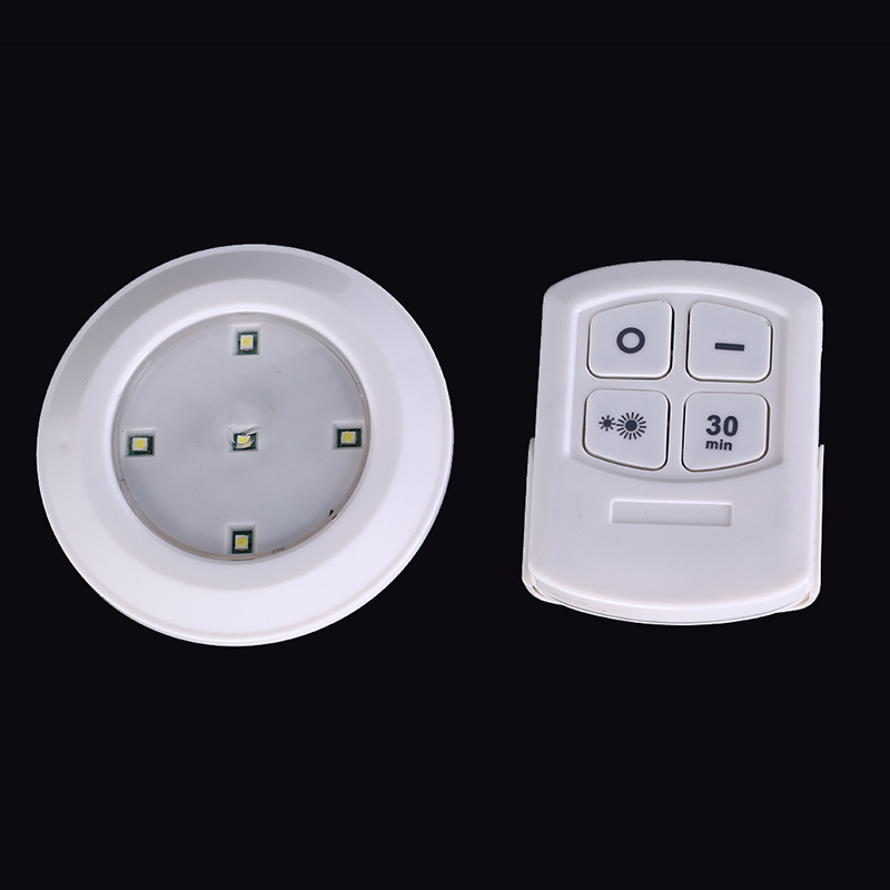5 LED Remote Control Led Night Light  Cabinet Light Wireless Spot Light Stick-On Anywhere Tap Night Lamps Battery Not Included