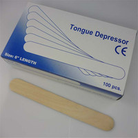 100PCS BOX Wooden Tongue Depressor Sticks For Tattoo Waxing Spatula Tattoo Wax Stick Medical B Level