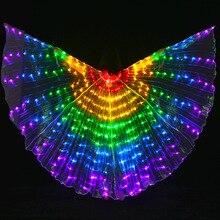 Lieli krāsaini vēderdeju LED spārniņi Tauriņš tērpu austrumu deju aksesuārs