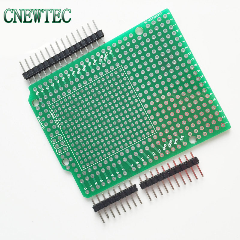 Combo 2mm + 2.54mm Pitch Prototype PCB For ArduinoUNO R3