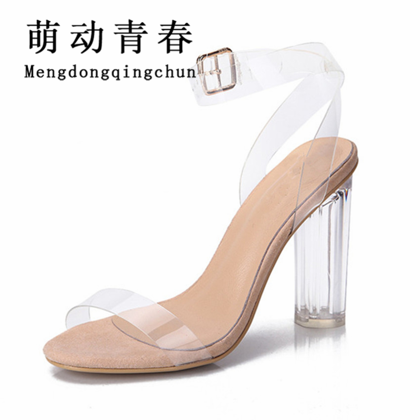 Women Sandals 2017 Shoes Woman Summer Style PVC High Heels Sandalias New Women's Sandals Ladies Zapatos Mujer Big Plus Size 43 summer high quality women flats sandals plus size 34 43 new fashion casual ladies sandalias comfort mujer gladiator woman shoes