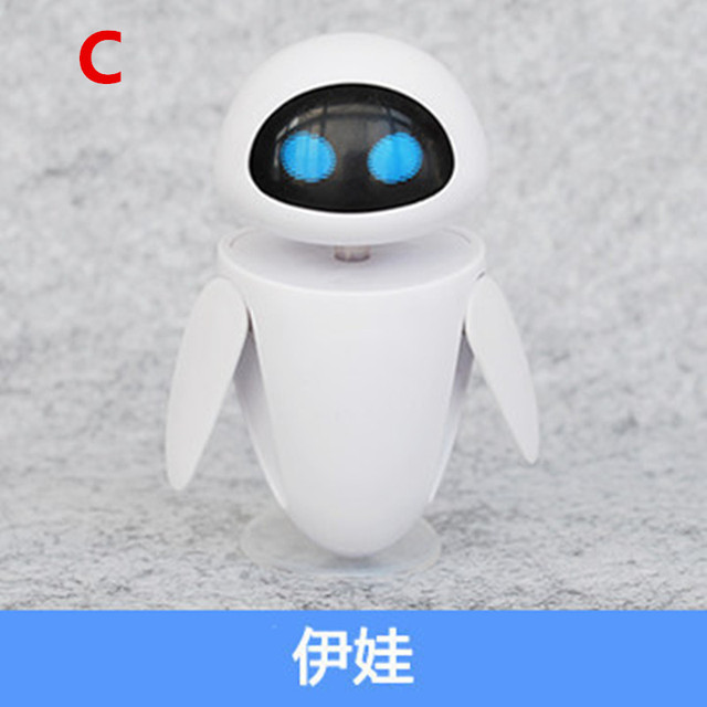2018 New arrival Wall-E Robot Wall E & EVE PVC Action Figure Collection Model Toys Dolls  WITH BOX 4